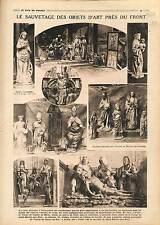 Objets d'Arts Eglise de Maizy de Cuvilly de Choisy-au-Bac Oise  War 1918 WWI