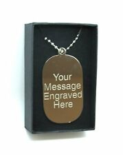 Personalised Engraved Nickel Army ID Dog Tag & Gift Box Perfect Gift Free P&P