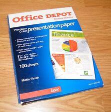 Office depot printer paper ebay office depot laser matte finish 85 x 11 premium color presentation paper reheart Image collections