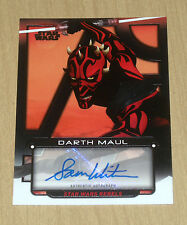 2017 Topps Star Wars Galactic Files autograph Sam Witwer as DARTH MAUL 7/50