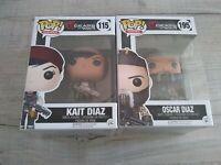 Lot x 2 Oscar & Kait Diaz Pop Funko Gears of War