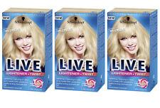3 x SCHWARZKOPF PERMANENT LIVE HAIR COLOUR 102 VANILLA BLONDE