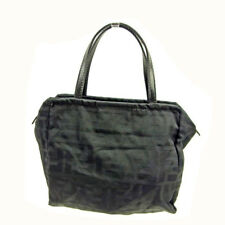 Fendi Bag Hand bag Zucca Nylon leather Black Woman unisex Authentic Used Y6218