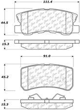 Ceramic Disc Brake Pad Set-Disc, Convertible Rear Centric 103.08680