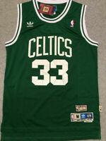 NEW! #33 Larry Bird Men's Vintage Boston Celtics Color GREEN