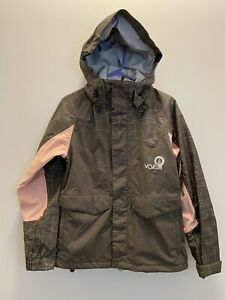 Volcom Womens Small Jacket Coat NIMBus 8000mm 5000gm Snow Ski Gray Pink