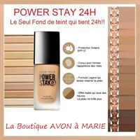 POWER STAY 24H Fond de teint AVON TRUE : ULTRA LONGUE TENUE Sans Transfert