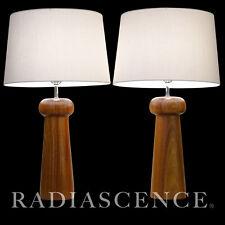 PAIR DANISH ATOMIC MODERN CLASSIC TEAK TABLE LAMPS DANSK OSOLNIK Denmark 1960'S