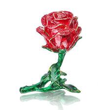Antique Red Rose Wedding Ring Jewelry Box Trinket Jewelry Storage Keepsake Box