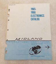 Vintage Electronics Catalog. MIDLAND Police Radio, Walkie Talkie, Parts 1965 66