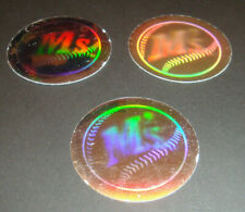1989 Upper Deck Vintage 80's Logo Hologram Stickers Seattle Mariners Lot of 3