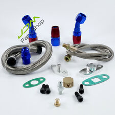 T3 T4 T3/T4 T70 T66 TO4E Turbo Oil Feed Line+ Return Drain Line Kit+AN10 Fitting