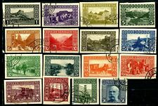 Bosnia Herzegovina 1906 IMPERFORATED Issues Complete Set 16 Used Scotts 30 to 45