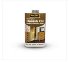 RUSTINS 500ML DANISH OIL FOR WOOD GIVES A NATURAL, OPEN GRAINED, SOFT FINISH