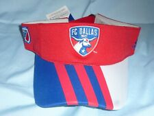 FC DALLAS  Adidas AUTHENTIC MLS  VISOR  One Size Fits All NWT $25 retail