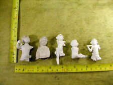 5 x excavated vintage damaged angel jesus doll parts age 1890 mixed media B 866