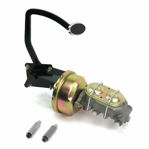 41-48 Ford 8 Single Brake Pedal kit Disk/DiskSm Oval Chr Pad hot rods rat