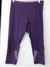 Lululemon Women SZ 8 Crops Purple Wet Dry Warm Vintage Running Yoga