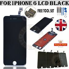 "For iPhone 6 4.7"" LCD Black Display Touch Screen Digitizer Lens Full Assembly UK"