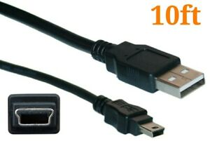 10ft Mini USB Cable Charging Cord For PS3 Playstation 3 Controller Dual Shock 3