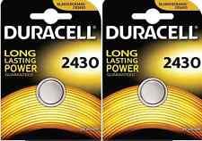 Duracell CR2430 3V Lithium Coin Cell Battery DL2430 K2430L ECR2430 - Pack of 2