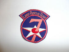 b1948 WW 2 US Army  7th Air Force Land Rescue Team patch hand emb R13C