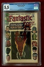Fantastic Four #54 CGC 5.5 1966 Marvel White Pages Inhumans Black Panther