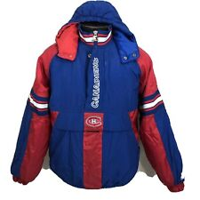 Vintage Starter Jacket Montreal Canadiens NHL Hockey Pullover Coat 90s XL
