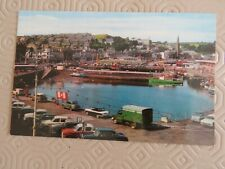 Vintage 1970s Rothesay Harbour - Old cars Real Photo Postcard