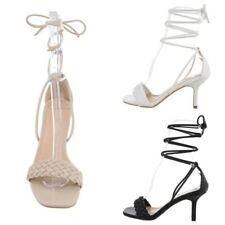 Scarpe da donna sandali alla schiava eleganti cerimonia tacco basso comodo sexy