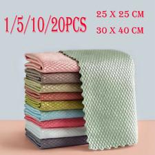 1~20X NanoScale Streak-Free Miracle Polishing Cleaning Cloths 30cmx40cm Reusable