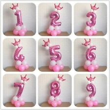 "32"" Number Balloon Column Stand Princess Girl Birthday Party AU Stock"