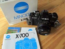 Minolta X-700 SLR 35mm Film Camera w/ Four Lenses, Two Flash
