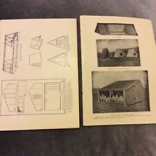 Vintage Book Prints - Chicken Coops & Houses - 2 Pages - 1924