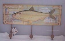 Náutica Con Ganchos De Abrigo Bata del sostenedor del estante placa Pescador Pesca Regalo SG1268