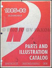 1985-1986 Oldsmobile Calais Parts Book Original Illustrated Master Catalog