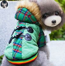 Hundemantel mit Kapuze Winter Jacke Welpe Chihuahua Grün Gr.XS