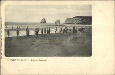 Hendaye France Rochers Jumeaux c1900 Postcard