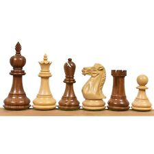 """4.2"""" Executive Staunton Chess Pieces Only Set - Weighted Golden Rose wood"""