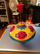 "Vintage Spinning Toy Top LBZ Lorenz Bolz Zirndorf  W. Germany 7""x7"""