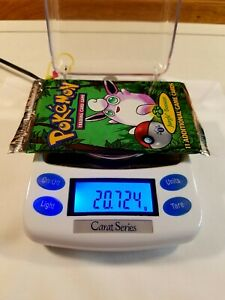 Pokemon 1st Edition Jungle Booster Pack Factory Sealed Weighed 20.72g