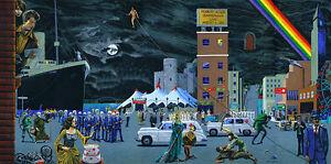 "Bob Dylan Desolation Row Art Painting on Canvas 48""x24"""