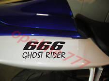 STICKER AUTOCOLLANT GHOST RIDER 666 HELLS ANGELS MOTO TUNING MOTO CASQUE