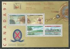 CANADA # 1407a MNH EXPLORERS, WORLD PHILATELIC YOUTH EXPOSITION Souvenir Sheet