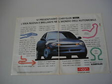 advertising Pubblicità 1995 CHRYSLER NEON