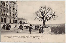 CPA -64- PAU - Boulevard des Pyrénées. L'heure de la promenade en hiver.