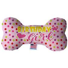 Birthday Girl Stuffing Free Bone Dog Toy