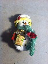 Vintage Snowman Pin/ brooch rosin scraf