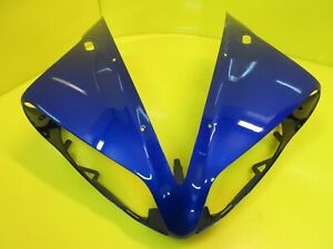 NEW GENUINE OEM YAMAHA YZF R1 YZFR1 FRONT HEADLIGHT UPPER COWL FAIRING 04-06 BLU