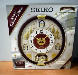 SEIKO SPECIAL COLLECT EDITION 24 MELODIES ROTATING PENDULUM/SWAROVSKI CRYSTALS